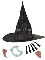 Free Shipping Halloween Women Witch Shaped Adult Cosplay Costume Suit