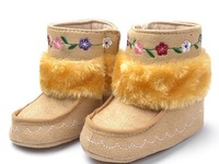 baby boot stitched flower boots  winter boot casual shoes baby pram shoes first walker prewalker shoes retail
