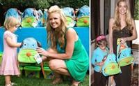 Free Shipping Cute Zoo Cartoon Dog Children Kids Boys Girls Backpacks Canvas Portable Bag