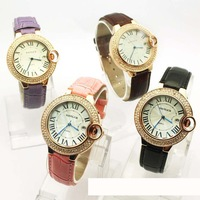 Fashion Ladies Watch Rose Gold Bracelet multi ribbon diamond watches with calendar wholesale