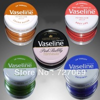 Free shipping!Lip Therapy Vaseline Petroleum Jelly Original/Soothes Dry Skin And Lips/natural organic embellish lip balm