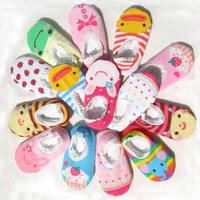 Wholesale 10pairs/lot Cute Unisex Baby Kids Toddler Girl Boy Anti-Slip Socks Shoes Slipper 6-24 Months Free Shipping