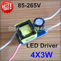 5pcs/lot 4X3W led driver, 4*3W driver, 12W lamp driver, 85-265V input for E27 GU10 E14 LED lamp, high quality and freeship