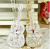 Make sure full capacity ! Crystal Jewelry Bling Guitar  1GB 2GB 4GB 8GB 16GB 32GB Free Shipping
