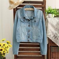 2014 hot sale free shipping fashion casual single breasted women denim jackets