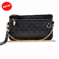 2013 First Layer Genuine Leather Day Clutch Fashion Women Print  Wristlet Cosmetic Bag,Shoulder Messenger Handbag,ANS-SL-76