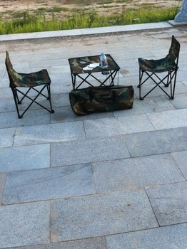 Outdoor furniture Camouflage folding tables and chairs piece set casual portable picnic tables and chairs set