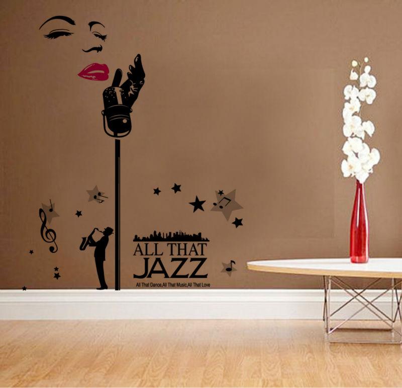 Marilyn Monroe Home Decor Music Princess Love Wall Stickers Bathroom