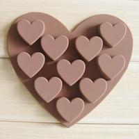 50pcs/lot 10pcs chocolate silicon mold Cake Manufacture mold Food grade material HO133