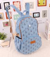 Women's handbag 2013 canvas backpack preppy style backpack middle school students school bag travel bag