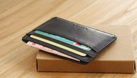men's small card holder male cowhide coin purse small wallet bank card holder genuine leather card case driving license