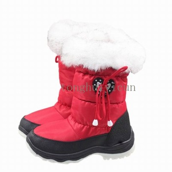Children Boots Waterproof Boots Kids Winter Fur Boots Boys Shoes Genuine Leather Baby Boots Winter