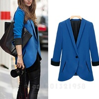 BEST WOMEN SINGLE BUCKLE SLIM SHOULDER PADS SMALL SUIT WF-41524