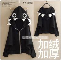 2014 spring and summer women's hooded fleece thickening batwing sleeve sweatshirt  animal print patterns loose  Cartoon