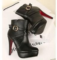 Новый дизайн платформы сексуальная ультра высокие каблуки насос единственным платье на высоких каблуках обувь Красный обувь Открытый мыс 067