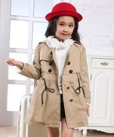 Medium-large girls clothing Autumn spring 2013 girl princess fashion children coat clothes girls kids outerwear clothing