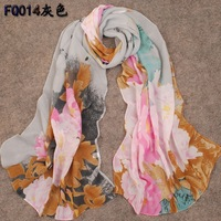 Long design silk scarf female spring and summer scarf silk scarf rich peony