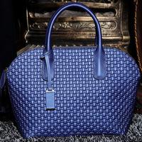 2014 crocodile pattern embossed women's genuine leather handbags cowhide shoulder messenger bag designer tote bags free shipping