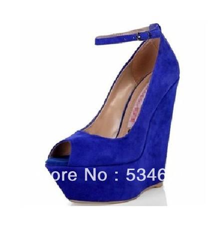 Grátis frete 2013 azul boca peixe inclinação documentários sapatos ultra alta com sapatos femininos(China (Mainland))