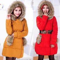 Free Shipping Women long down coat,2013 newest long coat winter jacket