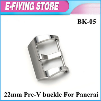 BK-05 22mm Watch Pin Buckle 316L Steel Polished Pre-V Clasp Buckle For Panerai Watches Free Shipping