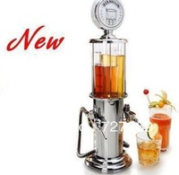 NEW DOUBLE GUN Silver Liquor Pump Gas Station Beer Alcohol Liquid Water Juice Wine Soda Soft Drink Beverage Dispenser Machine