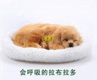 pampered petz pet mate breathing dog Labrador retriever cute toy sleeping pet emulational mini lifelike lively visual vivid toy