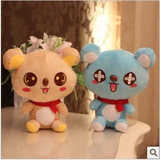 Dos desenhos animados grátis frete cachecol facilmente suportar boneca de pelúcia Super Popular bichos de pelúcia do bebê decoração do carro do casamento WHT032(China (Mainland))