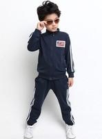 2013 Kids fashion spring & autumn sports clothing set(coat+pants) boy girl high quality 2pcs suit children wear Free shipping