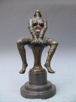 Signed Bust Nude Woman Beauty Pure Bronze & Marble ST z