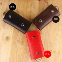 2013 High Quality Fashion Leather Key Wallet Male Women's Key Chain Cute Key Cover