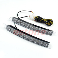 12V 9 LED Daytime Running Light DRL Daylight Turn Signal Fog Lamp For Audi Style