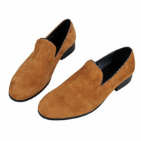 2013 british style loafers 100% genuine leather nubuck leather man shoes breathable casual shoes male lazy shoes