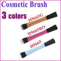3 Colors 2014 Hot Sale Professional Makeup Brush Sets New Foundation Blush Tool Flat Top Duo Fibre Powder Brush Wholesale