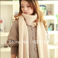 20 solic color long big lady and man scarf in winter,acrylic comfortable long knitted scarf,free shipping