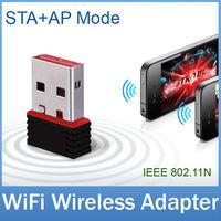 2pcs/lot Super Mini Soft AP 150M USB WiFi Wireless N Adapter IEEE 802.11n LAN Computer Networking Network Card FREE SHIPPING