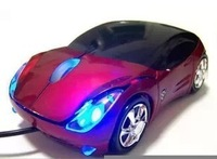 free shipping 3D optical wired usb mouse car shape mouse  flash light gaming mouse novelty computer mouse