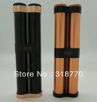 Free shipping new cigar holder, JF-029, metal cigar tube with high quality, aluminium material, cigar humidor for 2 cigars