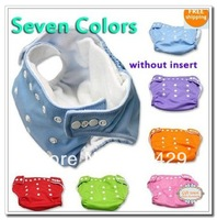 Hot Beautiful Reusable Washable Baby Cloth Nappies 1 pack Nappy Diapers 2 diapers+5 insert babyland diaper Free Shipping