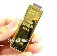 G-38 Hot Sale Metal Bullion Gold 4GB 8GB 16GB 32GB 64GB 128GB USB 2.0 Flash Memory Drive Stick Pen/Thumb/Car