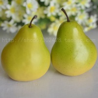 Artificial fruits and vegetables model kitchen cabinet home decoration high artificial pear september2000 pear  Free Shipping