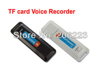 Free shipping  Portable U-Disk Digital Audio Voice Recorder Pen USB Flash Drive TF Card Slot