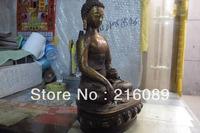 Tibet classical mythology bronze copper gild Shakyamuni tathagata buddha Statue z
