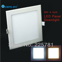 Free shipping 6W square led panel light 5pcs/lot new Ultra thin Downlight L120*W120mm AC90-250V