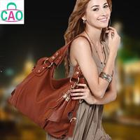 2015 Brand  composite leather handbag fashion leisure leather + microfiber tassel women messenger bag free shipping D10262