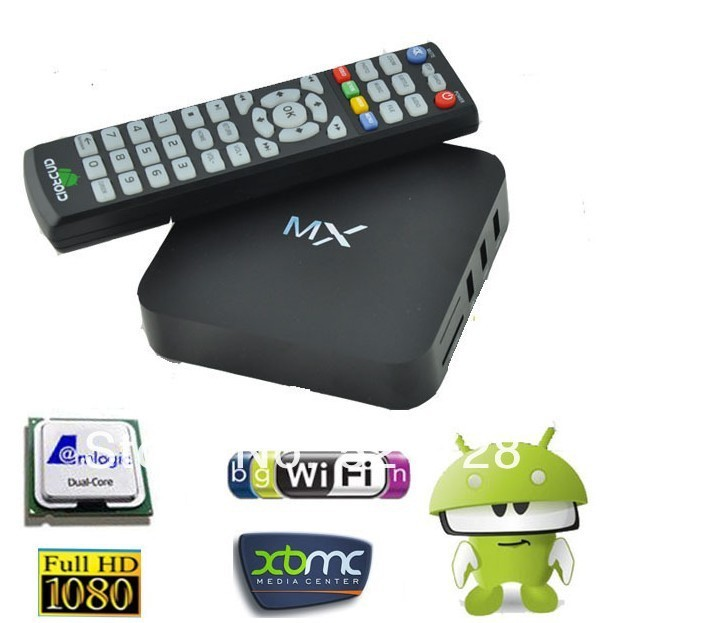 best selling AMLogic MX tv box Android 4.2 M6 dual core 1GB/8GB Cortex A9 1.5ghz support XBMC Youtube etc.(China (Mainland))