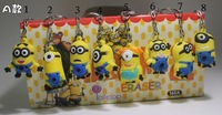 Fashion Despicable Me small capsule three-dimensional doll hangings keychain Lovely Cartoon Key Chain Market Promotional Product