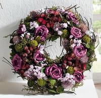Fashion purple rustic garland wedding decoration birthday decoration married
