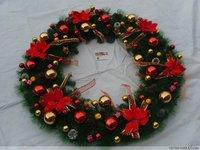 Large christmas wreath 80cm 1 meters 1.2 meters garishness christmas decoration