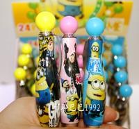 24pcs/lot Fashion Despicable Me capsules rotating ballpoint pen student cartoon ballpen Market Promotion